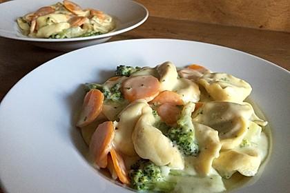 Tortelloni in Käse - Sahne - Sauce 7