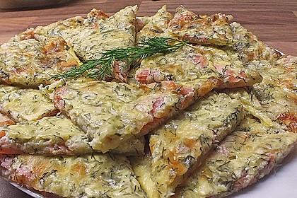 Schwedischer Lachskuchen  'Schwedenpizza' 3
