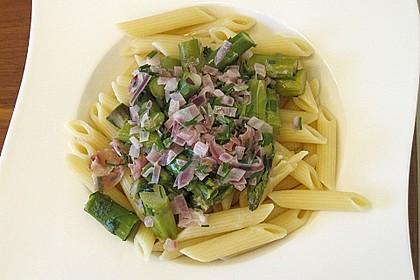 Spargel mit Schinken und Pasta 13