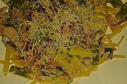Spargel mit Schinken und Pasta 19