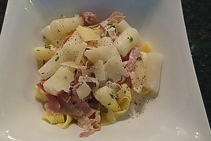 Spargel mit Schinken und Pasta 8