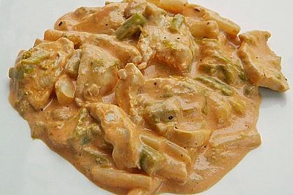 Spargel in rosa Basilikum - Käse - Sauce mit Filet vom Schwein, Huhn oder Pute 47