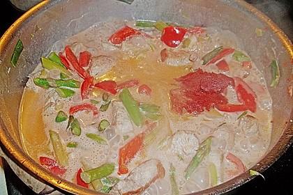 Spargel in rosa Basilikum - Käse - Sauce mit Filet vom Schwein, Huhn oder Pute 49