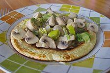 Pfannkuchen mit Porree - Pilz - Füllung