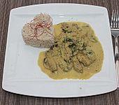 Curry - Senf - Geschnetzeltes mit Reis
