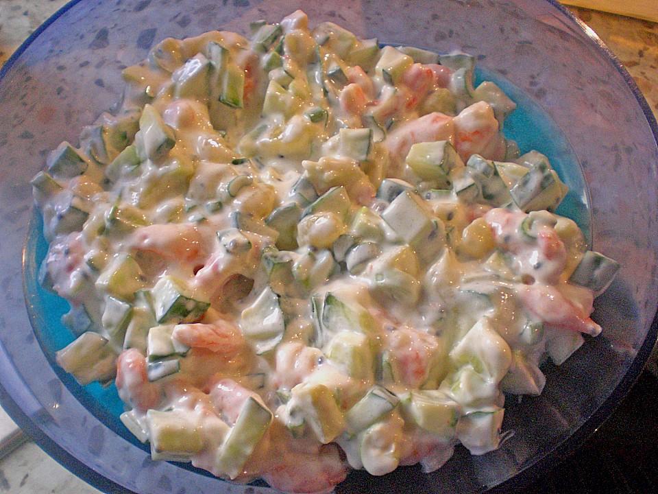 gurken shrimps salat rezept mit bild von anna schmidt. Black Bedroom Furniture Sets. Home Design Ideas