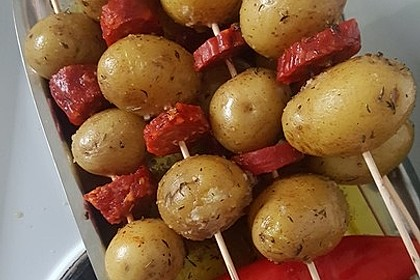 Spanische Kartoffelspieße 9