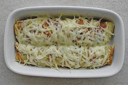 Überbackene Schinken - Käse - Crepes 2