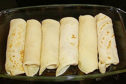 Überbackene Schinken - Käse - Crepes 9