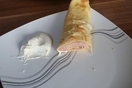 Überbackene Schinken - Käse - Crepes 3