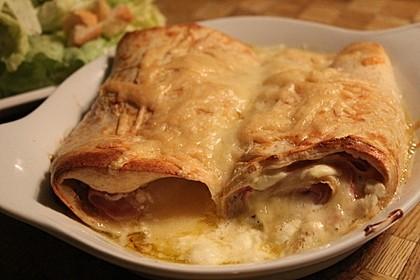 Überbackene Schinken - Käse - Crepes 1