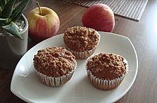 Leckere Apfel - Streusel - Muffins