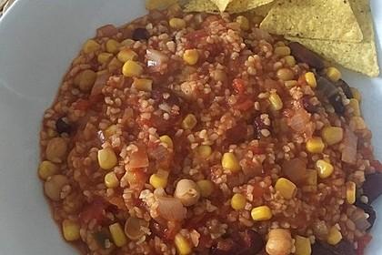 Vegetarisches Chili mit Bulgur 4