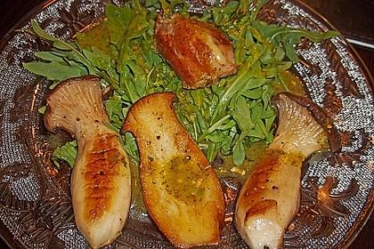 Feldsalat mit Pilzen 2