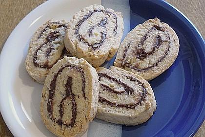 Schokoladen - Haselnusscreme - Spiralen 10