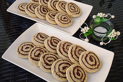 Schokoladen - Haselnusscreme - Spiralen 2
