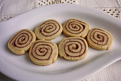 Schokoladen - Haselnusscreme - Spiralen 6
