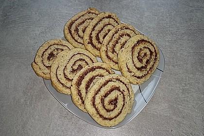 Schokoladen - Haselnusscreme - Spiralen