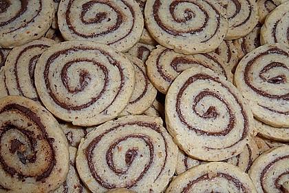 Schokoladen - Haselnusscreme - Spiralen 33