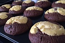 Double Chocolate Cheese Cake Muffins
