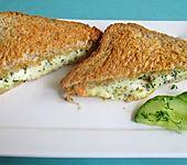Warme Zucchini - Mozzarella - Sandwiches