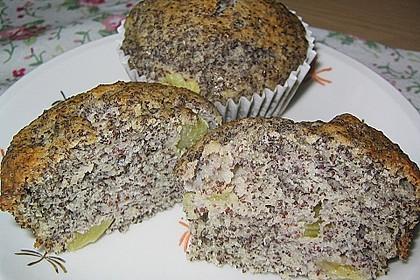 Rhabarber - Mohn - Muffins 4