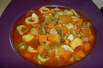 Leckere Gemüse - Tomaten - Suppe mit Tortellini 7
