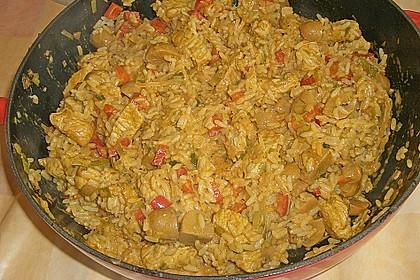 Reispfanne mit Putengeschnetzeltem 0
