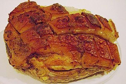 Krustenbraten vom Schwein mit extra krosser Kruste 19