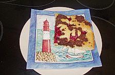 Marmorkuchen auf dem Blech