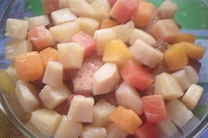 Tutti-Frutti Pudding-Früchte Dessert mit Butterkeksen 2