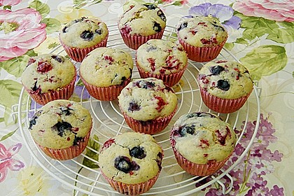 Himbeer - Blueberry - Muffins 4