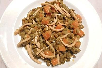 Linsen - Wurstsalat mit Honig - Senfsoße 1