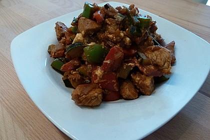 Puten - Gemüse - Pfanne mit Feta 7