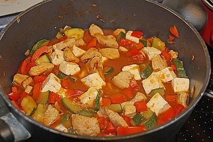 Puten - Gemüse - Pfanne mit Feta 5