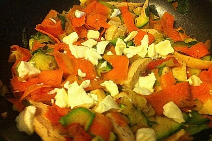 Puten - Gemüse - Pfanne mit Feta 14