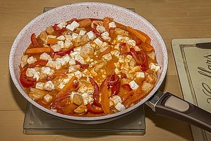 Puten - Gemüse - Pfanne mit Feta 15
