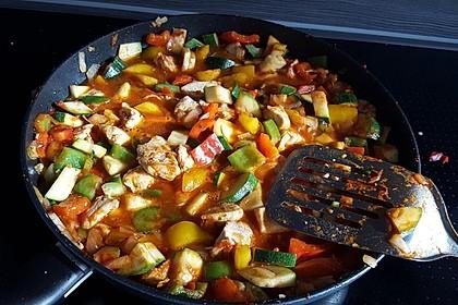 Puten - Gemüse - Pfanne mit Feta 2
