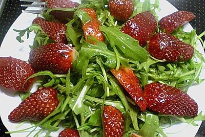 Erdbeeren mit Rucola und Parmesan 1