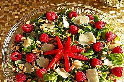 Erdbeeren mit Rucola und Parmesan 2