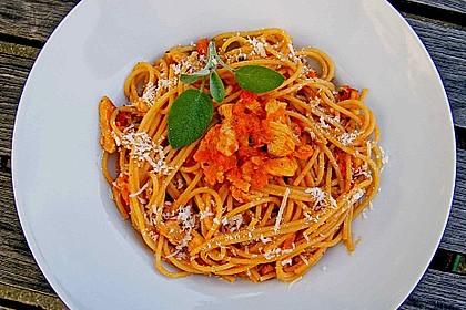 Spaghetti mit Putenfleisch 1