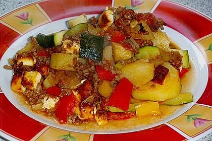 Hackfleisch - Kartoffelauflauf mit Schafskäse