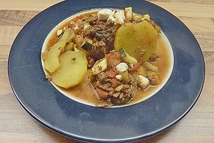 Hackfleisch - Kartoffelauflauf mit Schafskäse 3