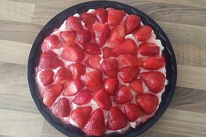 Erdbeerkuchen mit Vanillepudding 35