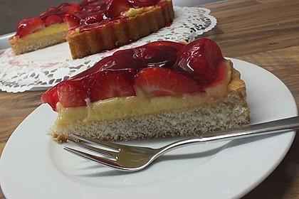 Erdbeerkuchen mit Vanillepudding 7