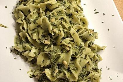 Bandnudeln mit frischem Spinat und Lachs 24