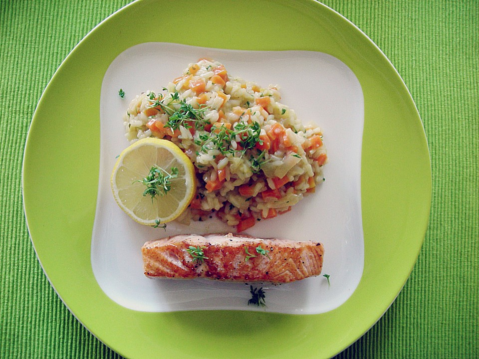 lachs mit kresse risotto rezept mit bild von sramaravilla. Black Bedroom Furniture Sets. Home Design Ideas
