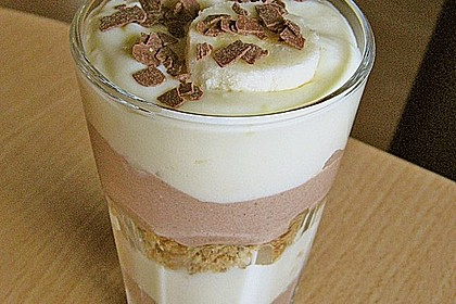 Bananen - Vanille - Schokocreme - Dessert 6