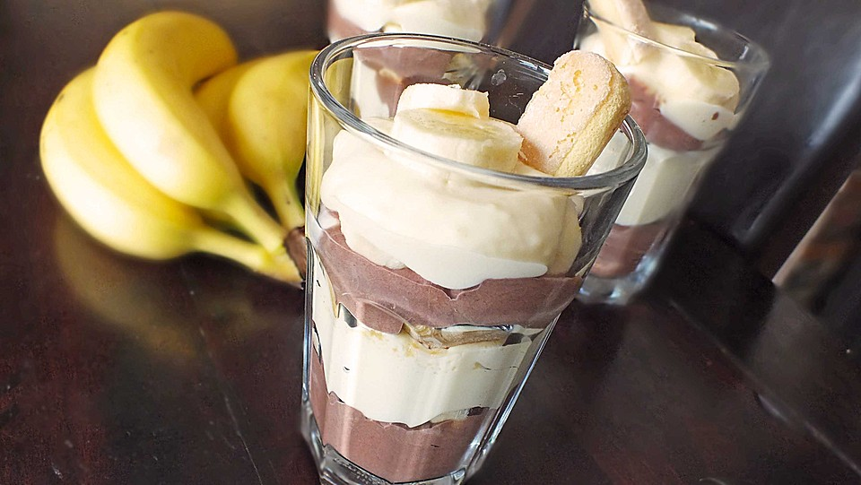 bananen vanille schokocreme dessert rezept mit bild. Black Bedroom Furniture Sets. Home Design Ideas