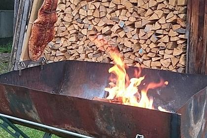 Würziger Flammlachs vom Feuer 7